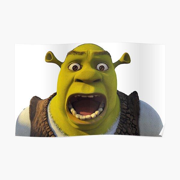 Surprised Shrek Poster