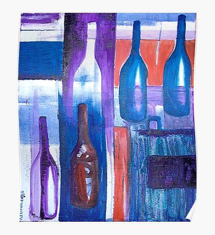Wine Bottles I Poster