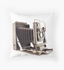 Old portrait photography machine Throw Pillow