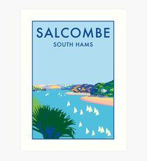 Salcombe, Devon Art Print