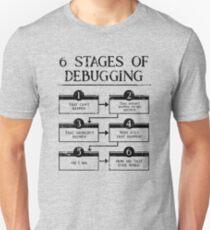Camiseta unisex 6 etapas de depuración Programación de computadora