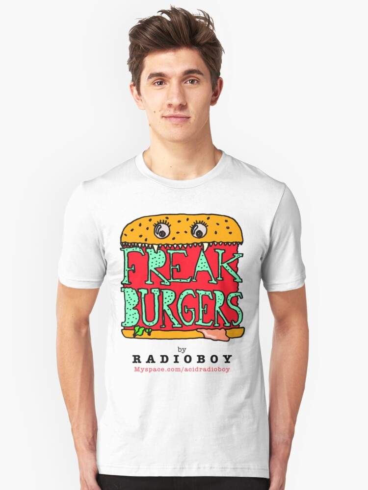 FREAK BURGERS BRAND by RADIOBOY Unisex T-Shirt Front