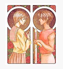 90s anime | Escaflowne | Hitomi x Van | Love across the stars Photographic Print