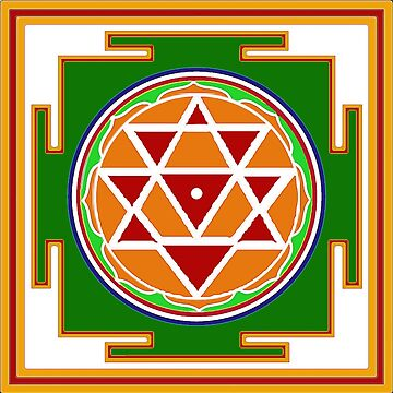 Navadurga Yantra - 9 Forms of the Goddess by Rangakusha