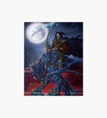 Grim Reaper on a Dragon Art Board Print