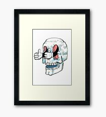 Great Job Skull Framed Print