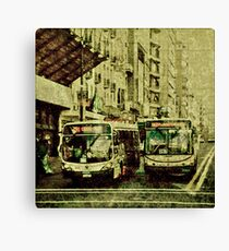 Montevideo Main Avenue Grunge Style Photo Canvas Print