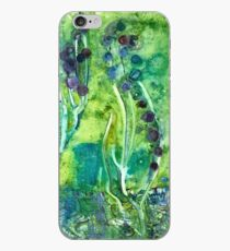 Green & Purple Hyacinth Watercolor iPhone Case