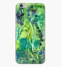 Grünes u. Lila Hyazinthen-Aquarell iPhone-Hülle & Cover