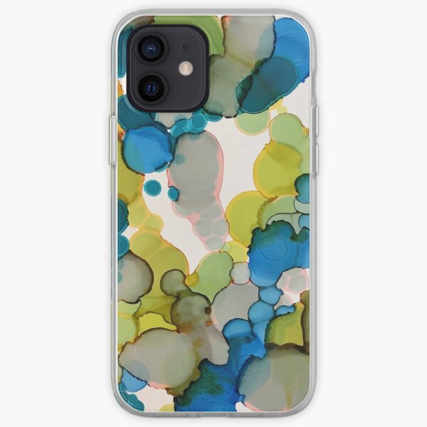 Green & Blue Bubbles iPhone Soft Case