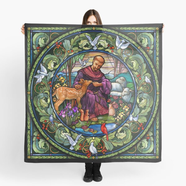St. Francis of Assisi Stained Glass Scarf