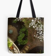 Painted Courtyard Tote Bag