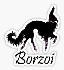 Ballet Borzoi Beauty In Black Sticker