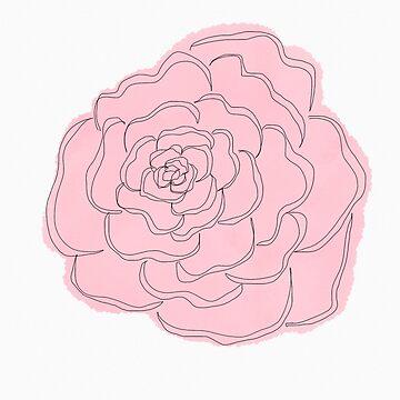 Large rose by Tarasadventure