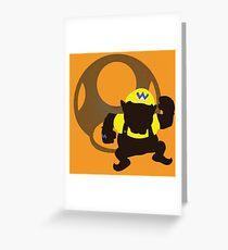 Wario (Mario) - Sunset Shores Greeting Card