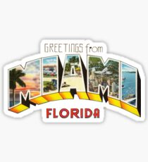 Greetings from Miami, Florida 1 Sticker