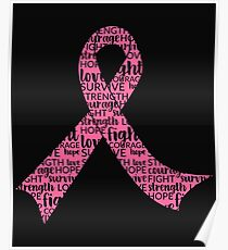 Breast Cancer Awareness Ribbon Poster