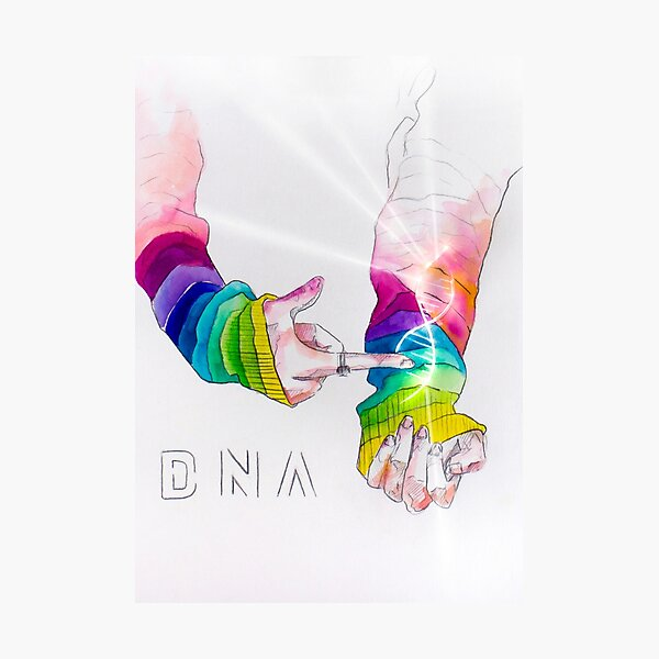 BTS 방탄소년단 - DNA Photographic Print