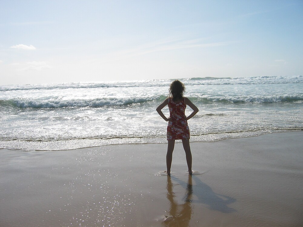 Meditation on the beach by dolphin