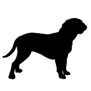 dogue de bordeaux silhouette by marasdaughter