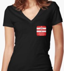 I have a basketball game tomorrow Women's Fitted V-Neck T-Shirt