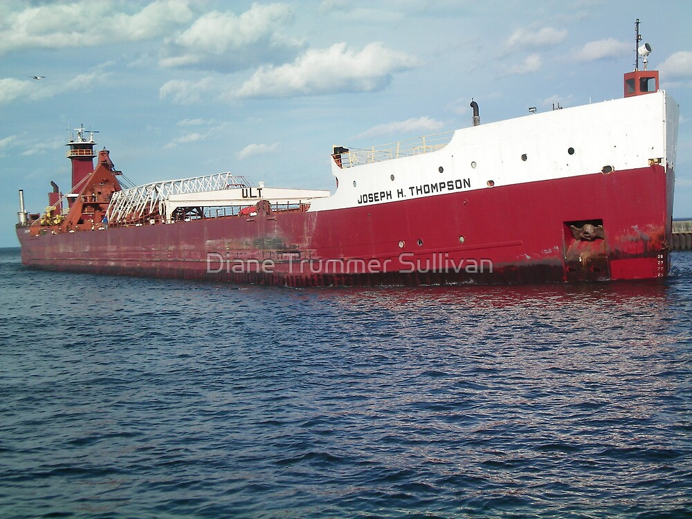 Joseph H. Thompson Historic Vessel  ~ of Lake Superior, Duluth MN by Diane Trummer Sullivan