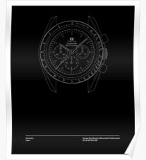 Omega Speedmaster First Watch Worn on the Moon Poster