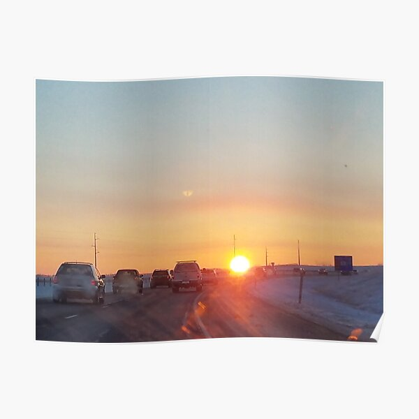 January Morning in Colorado Poster