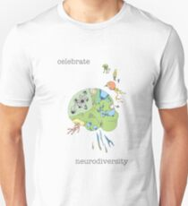 Celebrate Neurodiversity Poster Unisex T-Shirt