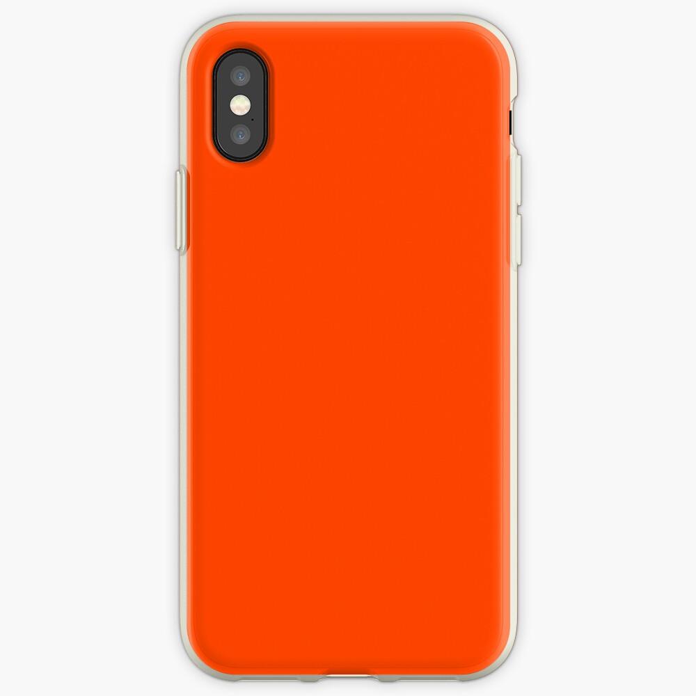 PLAIN ORANGE RED   SOLID COLOR ORANGE RED iPhone Case & Cover