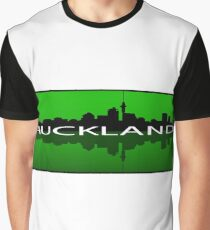 Auckland Reflection - Green on Green Graphic T-Shirt