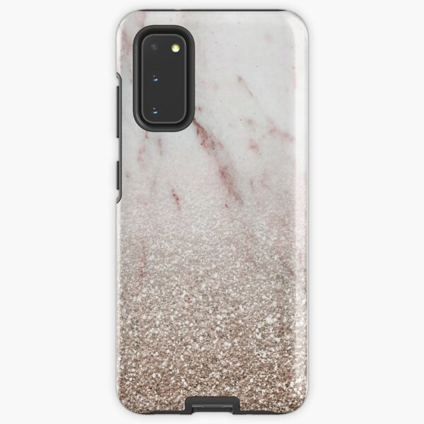 Glitter ombre - pink marble & rose gold glitter Samsung Galaxy Tough Case