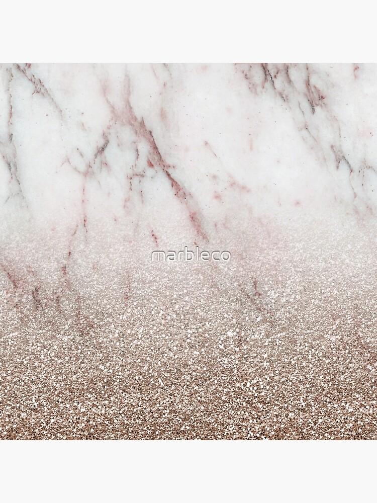 Glitter ombre - rosa de oro rosa y brillo de oro rosa de marbleco