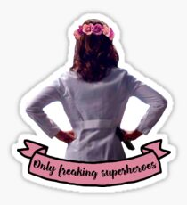 Amelia Shepherd - Only Freaking Superheroes Sticker