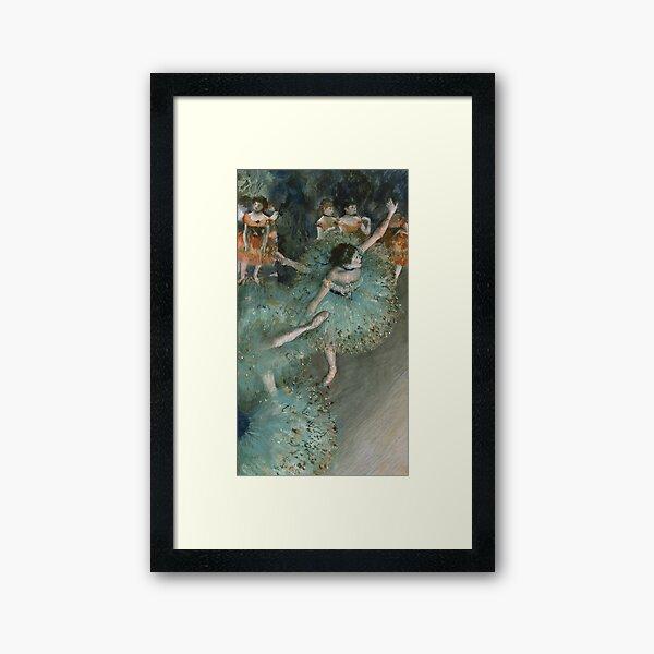 Swaying Dancer (Dancer in Green) by Edgar Degas Framed Art Print