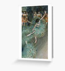 Swaying Dancer (Dancer in Green) by Edgar Degas Greeting Card