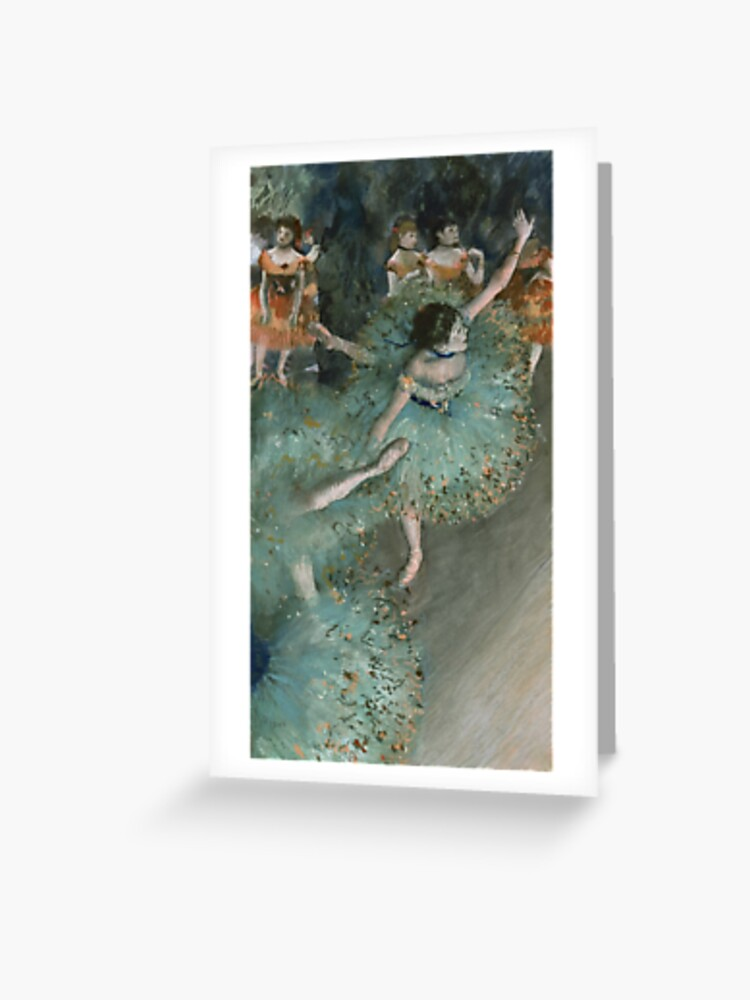 Ballet Dancing Barre Painting Greeting Card With Envelope Inside Premium Quality
