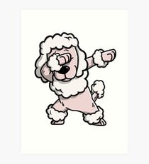 Dabbing Poodle Funny Art Print