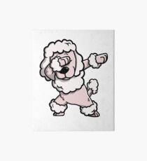 Dabbing Poodle Funny Art Board
