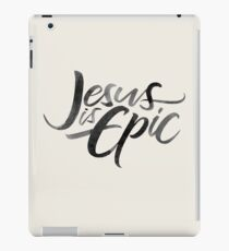 Jesus is Epic Brush Lettering - Calligraphy - Christian Religion iPad Case/Skin
