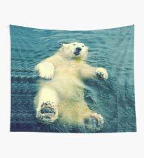 Chillaxing Polar Bear Wall Tapestry