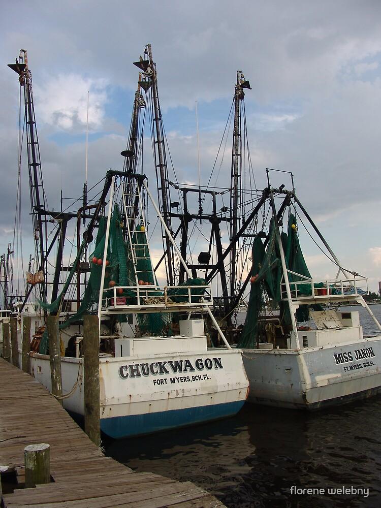 Twin Shrimp Boats by florene welebny