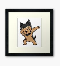 Dabbing Yorkshire Terrier Funny Yorkie Framed Print