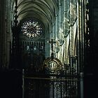 Transept Cathedral Amiens France 19840821 0063  by Fred Mitchell