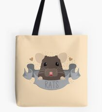RATS with cute rat on a banner Tote Bag