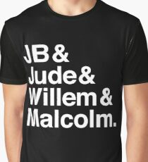 A LITTLE LIFE book JB & Jude & Willem & Malcolm (in white) Graphic T-Shirt