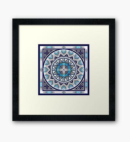 Sacred Places Blue  Framed Print