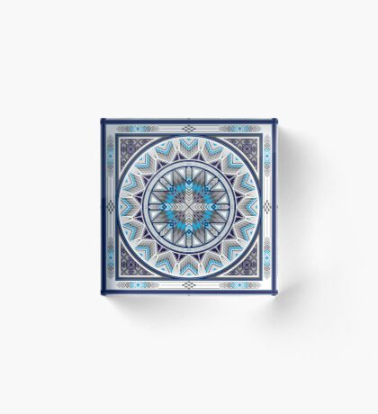 Sacred Places Blue  Acrylic Block