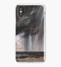 Seascape Study with Rain Cloud (Rainstorm over the Sea) 1824-1828 John Constable iPhone Case/Skin