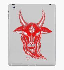 BLOOD RED BAPHOMET iPad Case/Skin